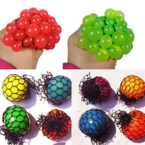 NUOVO Squishy Mesh Balls Palline Di Stress Squeeze colore YUCH Party Bag Divertente Regalo UK