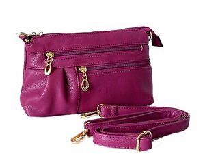 Purple Slim Crossbody Long Bag Large Strap Pocket Light Multi Compartment Clutch z1nqad