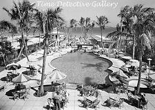 Swimming Pool at Raleigh Hotel, Miami, Florida - 1941 - Historic Photo Print