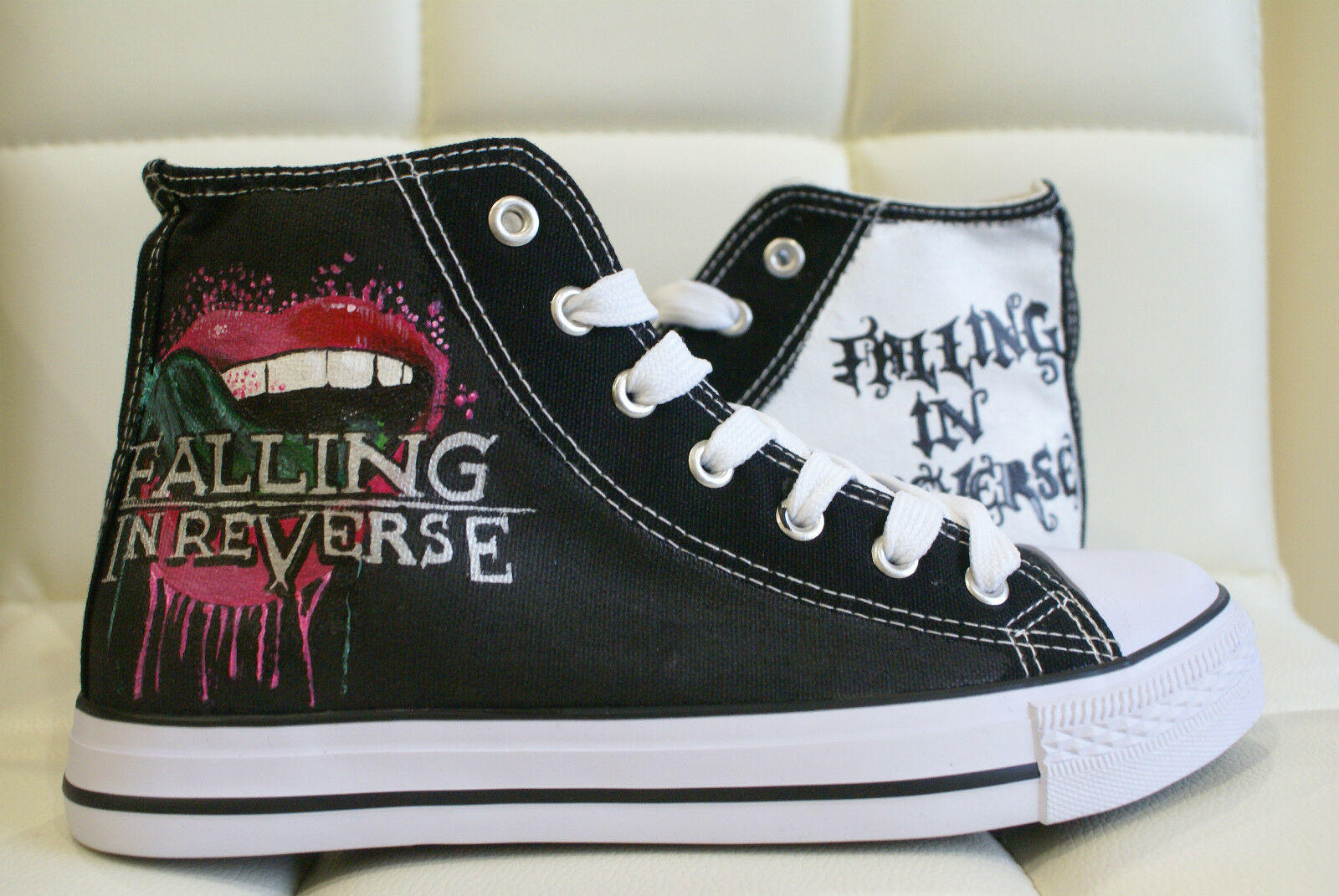 FALLING IN REVERSE INSPIRED CUSTOM HAND PAINTED HIGH TOPS