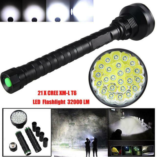 32000LM T6 LED  Flashlight 5 Modes Torch 26650 18650 Camping Lamp Light Torch D  big discount prices