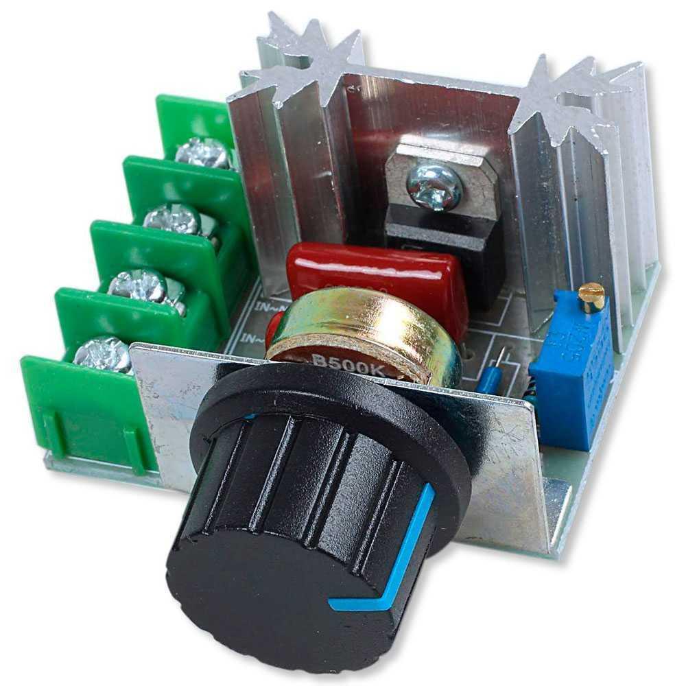 Regulador de Voltaje 2000W 50V-220V 10A PWM AC Motor Speed Controller Regulator