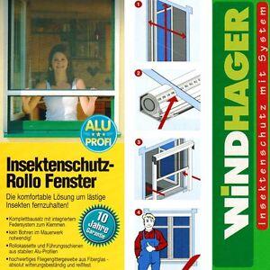 windhager insektenschutz rollo fenster 100x160cm wei o braun fliegengitter 086 ebay. Black Bedroom Furniture Sets. Home Design Ideas