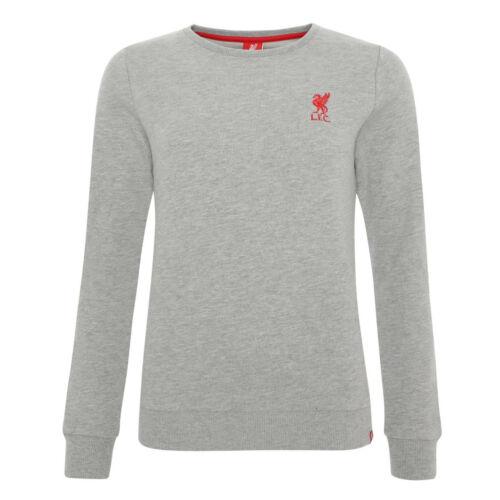 Liverpool FC Womens Liverbird Crew Neck Sweatshirt LFC Official
