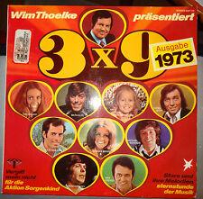 Vinyl Schall-Platte LP Wim Thoelke 3x9 Schlager Pop 1973 Aktion Sorgenkind Stern