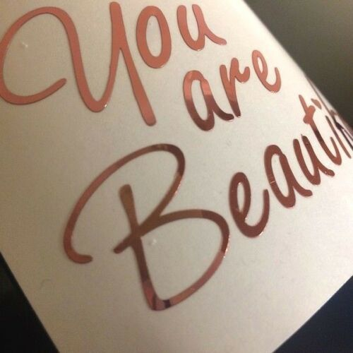 You Are Beautiful Quote Wall Stickers Art Decals for Mirror Glass  Wine Window
