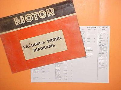 1967 1968 1969 1970 1971 Oldsmobile 98 Delta 88 Toronado Vacuum Wiring Diagrams Ebay