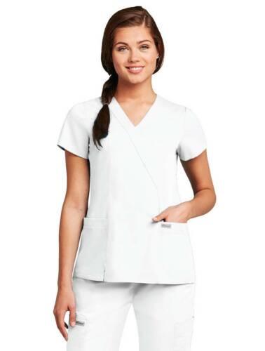 Grey/'s Anatomy Women/'s 41101 2 Pocket Mock Wrap Scrub Top