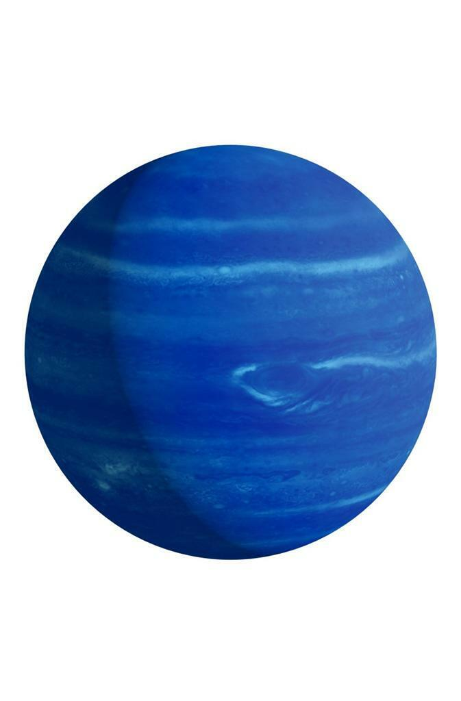 New 8x10 Photo Triton Montage of Planet Neptune /& its Moon