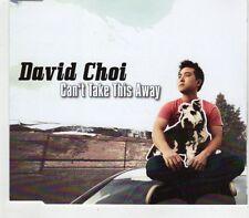 (GV237) David Choi, Can't Take This Away - 2012 CD