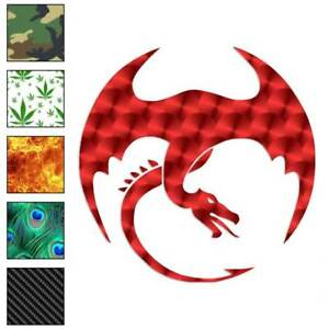 cc9dba3a3 Image is loading Dragon-Flying-Tribal-Decal-Sticker-Choose-Pattern-Size-