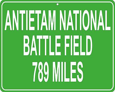 distance to your house Manassas Battle Field Civil War custom mileage sign
