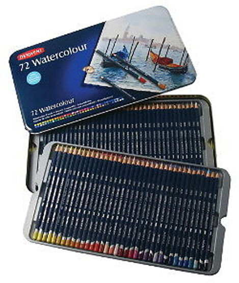 Derwent Watercolour Pencils 72 Tin