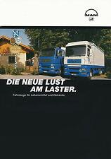 MAN Lebensmittel Getränke Lkw Prospekt 2003 truck brochure truck Lastwagen