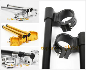 Moto-41-43-45-46-48mm-High-Lift-Adjustable-Clip-Sur-Guidon-Clip-ons-Bracelet-Alu
