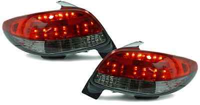 Red black color Finish LED tail lights rear lights for Peugeot 206 from 98-06