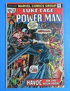 LUKE-CAGE-POWER-MAN-18-1974-MARVEL-BRONZE-AGE-COMIC-BOOK-High-Grade-VF-NM