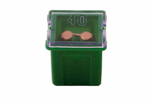 J Tipo Fusible automático de bajo perfil Verde 40-amp PK 10conectar 30485