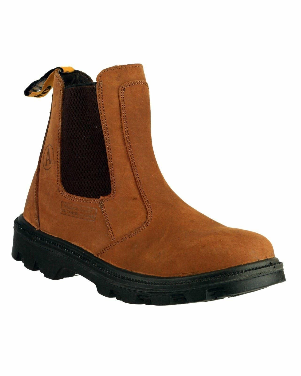 Amblers Safety Marron FS131 Résistant à L'Eau À Enfiler Sécurité Dealer boots