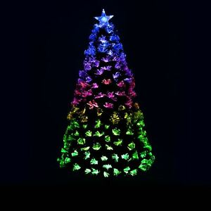 Details About Pre Lit Artificial Christmas Tree Fibre Optic Decoration With Remote Control 6ft