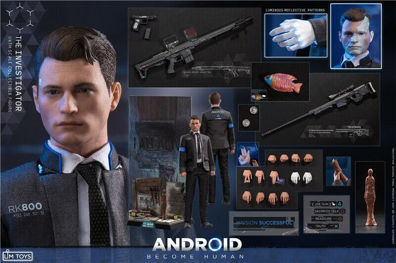 LIMTOYS 1 6 LIM009 Detroit converdeirse en seres humanos experto de negociación Juguetes Masculinos Figura Cuerpo