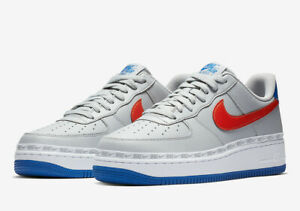 Details about Nike Air Force 1 07 LV8 Trainers Grey Red