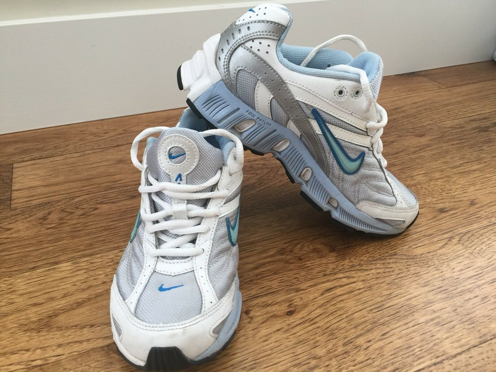 Nike Air Dual D Phylon Women's White Gray Blue Running Shoes Sz 7 Price reduction The most popular shoes for men and women