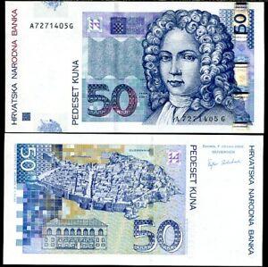 CROATIA 50 KUNA 2002 P 40 UNC