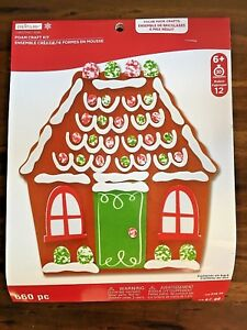 Christmas Gingerbread House Kit.Details About Creatology Christmas Gingerbread House Foam Craft Kit 660 Pc New Ages 6