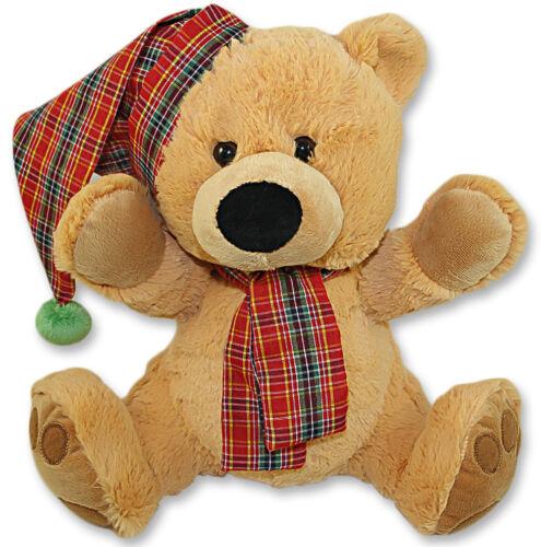 1 x Plüsch Schmuse-Bär Bären 30 cm Mütze Stofftier Kuscheltier Plüschtier Teddy