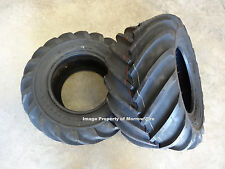 TWO New 26X12.00-12 Deestone D405 Tractor Lug Tires 6 ply with free stems