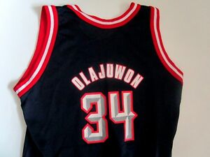 outlet store f5028 b8a15 Details about lk nw - HAKEEM OLAJUWON Jersey - NBA Houston Rockets -  Champion - Boys XL 18-20