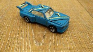 Vintage-Hecho-En-Hong-Kong-BMW-3-0-CSL-Azul-Modelo-de-juguete-Diecast-Car-70mm-de-largo