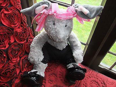 Fábrica de Oso Suave Esponjoso Easter Bunny conejo con Bab construir un oso de zapatos y pantalones