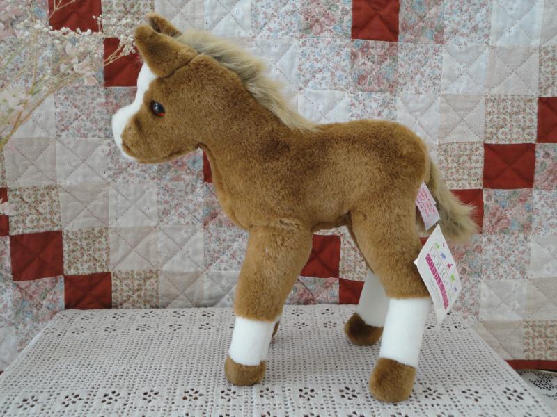 Douglas Cuddle Toys HORSE Braun & Weiß Plush 13 inch