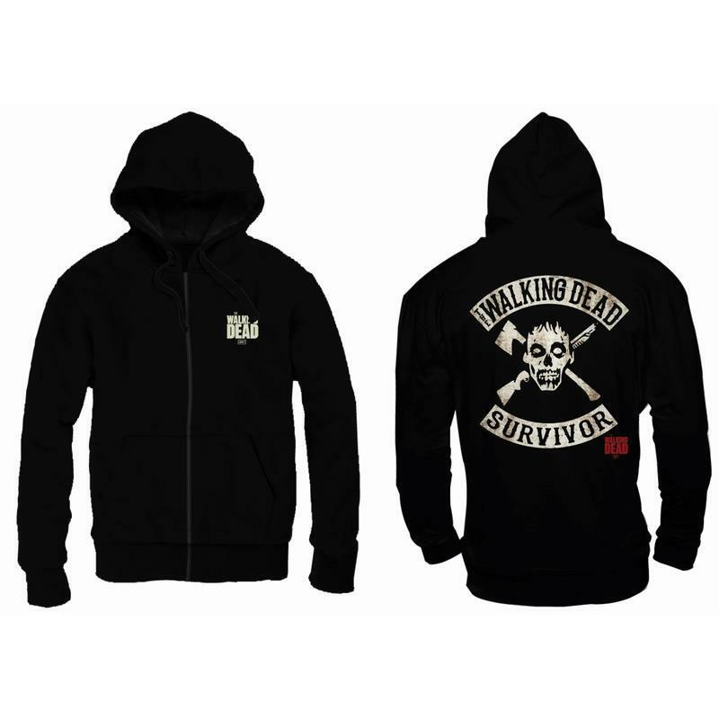 OFFICIAL LICENSED - THE WALKING DEAD - SURVIVOR HOODED SWEATSHIRT DARYL NEGAN
