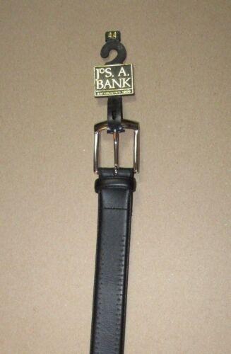$99.50 Nouveau JOS A BANK Signature Noir Ceinture En Cuir Avec Ton Argent Boucle 44