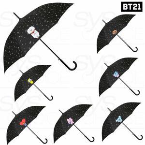 BTS-BT21-Official-Authentic-Goods-Automatic-Long-Umbrella-Pattern-Black-Express