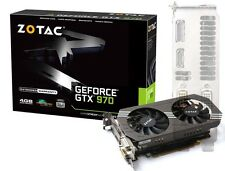 ZOTAC GeForce GTX970 4GB Graphics Card PCi-E 2x DVI HDMI DisplayPort VGA Adapter