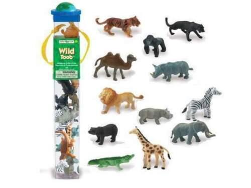 12 minifiguren Animaux sauvages série domaine safari Ltd 695004