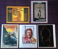 CLINT EASTWOOD Vintage Lot 5 Original MINI Movie POSTERS Art Print Lithographs