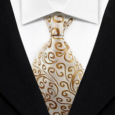 Pattern Men's Ties Classic Jacquard Woven Silk Tie Suits Necktie Pink Gold N108
