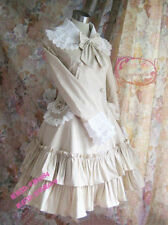 Cosplay Gothic Lolita Vintage Coat/ Dress with bowknot (white/black/sky blue)