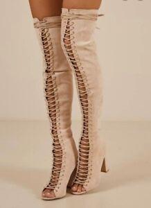 Billini Bardot Thigh High Boots Size 8