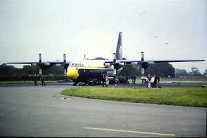 4-499-2-Lockheed-C-130T-Hercules-Blue-Angels-034-Fat-Albert-034-Kodachrome-SLIDE