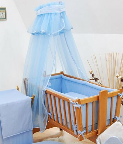 lux 8 pcs CRIB BEDDING SET TEDDY EMBROIDERY all round bumper//canopy//fitted sheet
