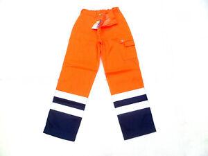 A.k Trading Pantalon De Travail Orange Fluo Bleu Taille M Pant Hv 12.10.70.4 Bon Pour AntipyréTique Et Sucette De La Gorge