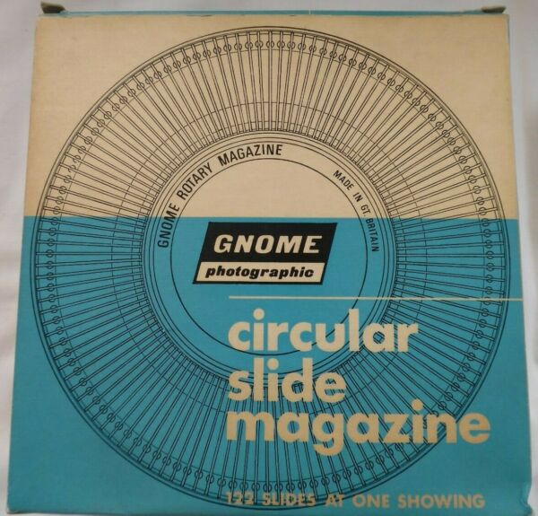 2x Gnome Circular Slide Magazine Détient 122 Diapositives/transparencys-rencys Saveur Pure Et Douce