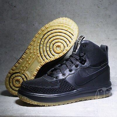 Nike SZ 6.5 Lunar Force 1 Duckboot Winter SneakerBoots 882842-001 Kids GS Shoes