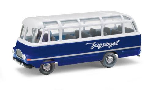 """Busch//ESPEWE 95706 Robur LO 2500 Bus blau//weiß /""""Zugvogel/""""HO 1:87 NEU"""